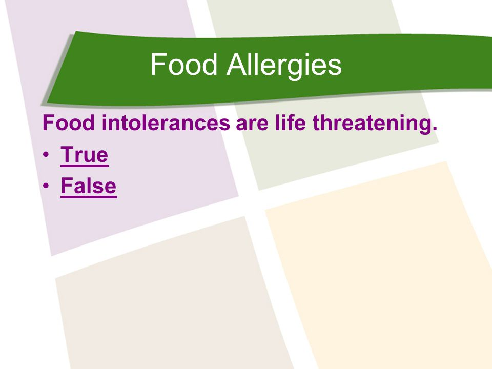 Food Allergies Individuals with severe food allergies carry an Epi-pen ®, an auto injector which contains: Epinephrine Correct.