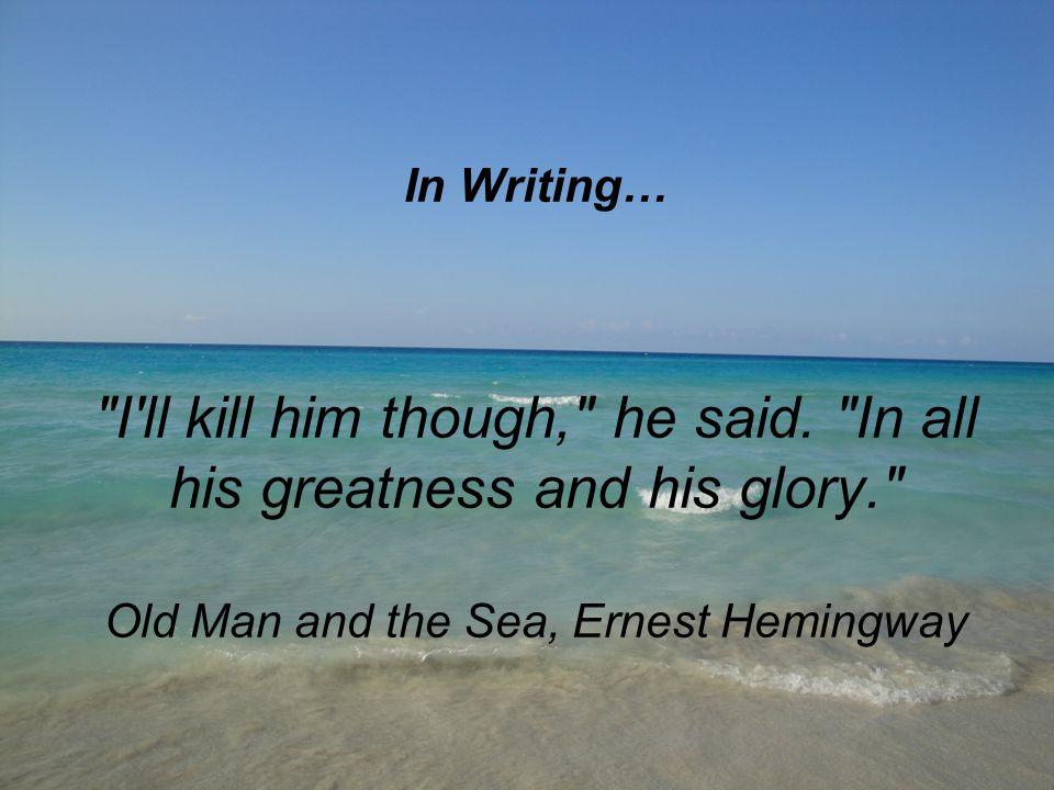 In Writing…