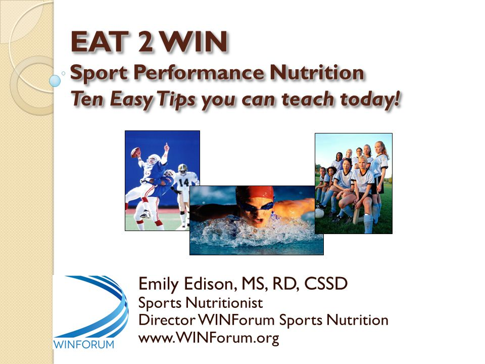 Sport Nutrition is Nutrition Science Diet or Weight Loss Nutrition Sport Nutrition VS