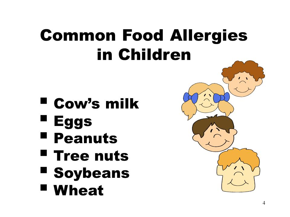 5 Common Food Allergies in Adults  Peanuts  Shell fish  Fin fish  Tree nuts