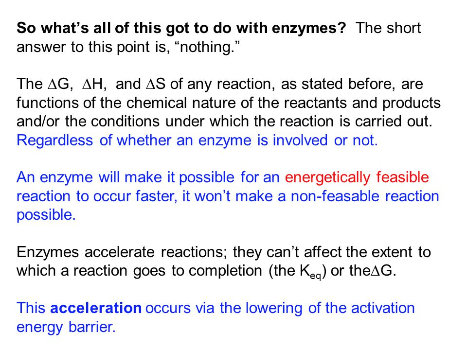 So what's all of this got to do with enzymes.