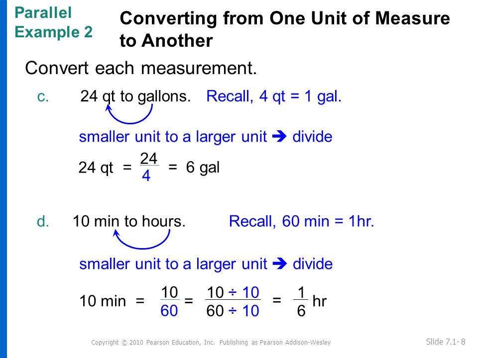 Convert each measurement. Copyright © 2010 Pearson Education, Inc.