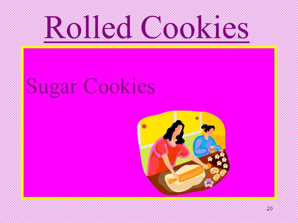 20 Rolled Cookies Sugar Cookies