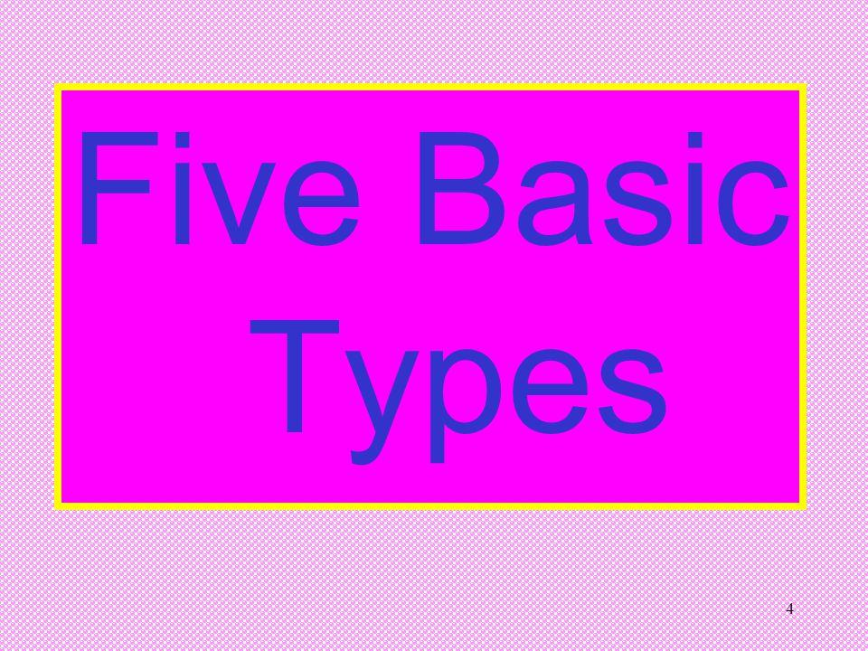 4 Five Basic Types