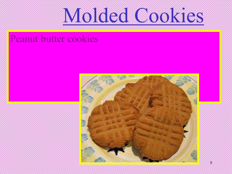 9 Molded Cookies Peanut butter cookies