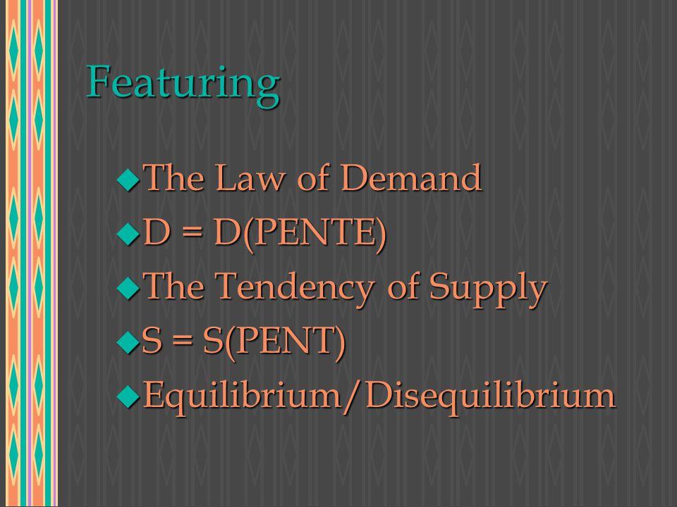 In Three Parts DemandSupplyEquilibrium/Disequilibrium