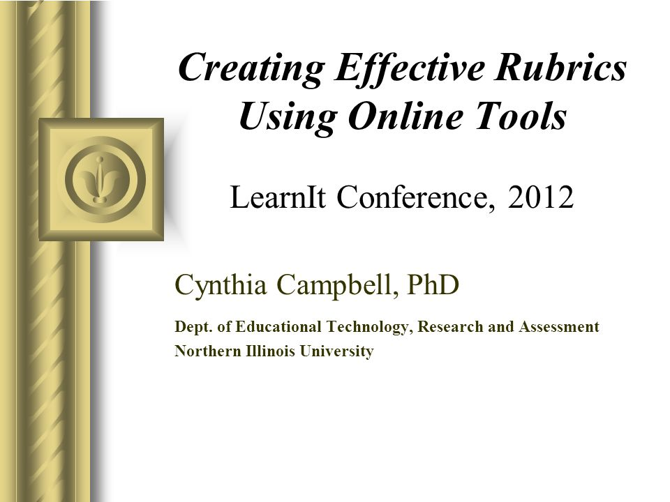 2 What is a Rubric.