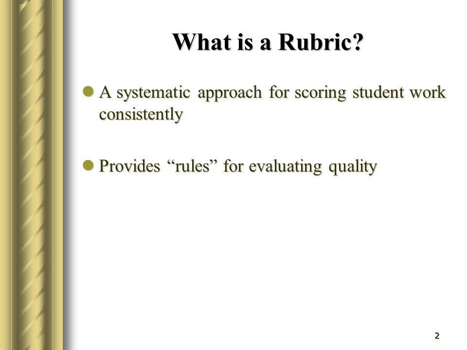 13 Design a Rubric to Assess a Written Report