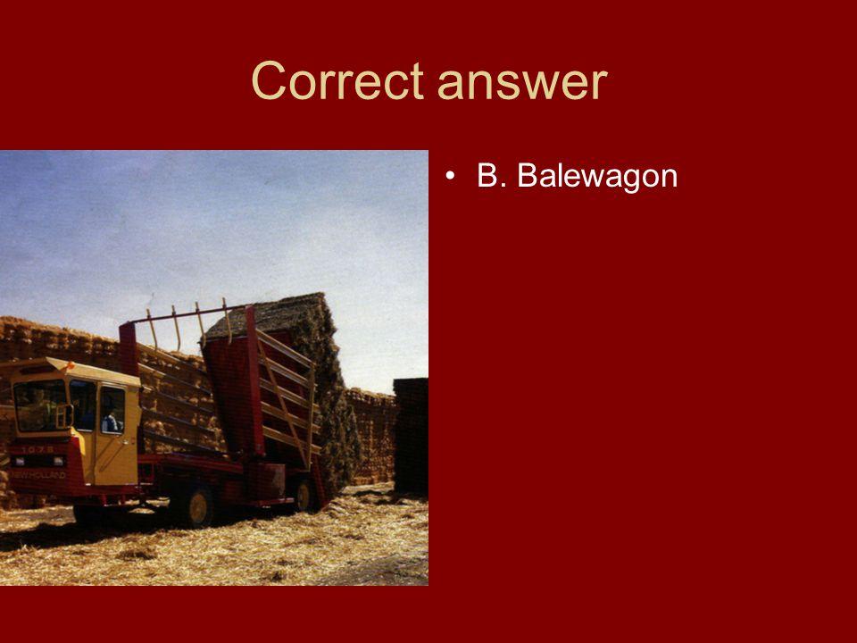 Correct answer B. Balewagon