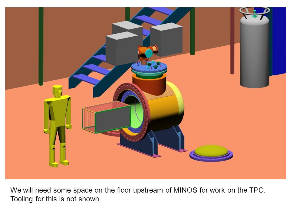 We will need some space on the floor upstream of MINOS for work on the TPC.