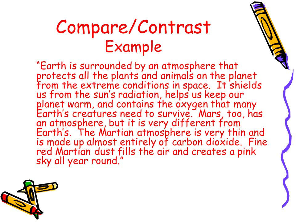 Compare/Contrast Signal Words cont. Resembles Although Unless Similarly However