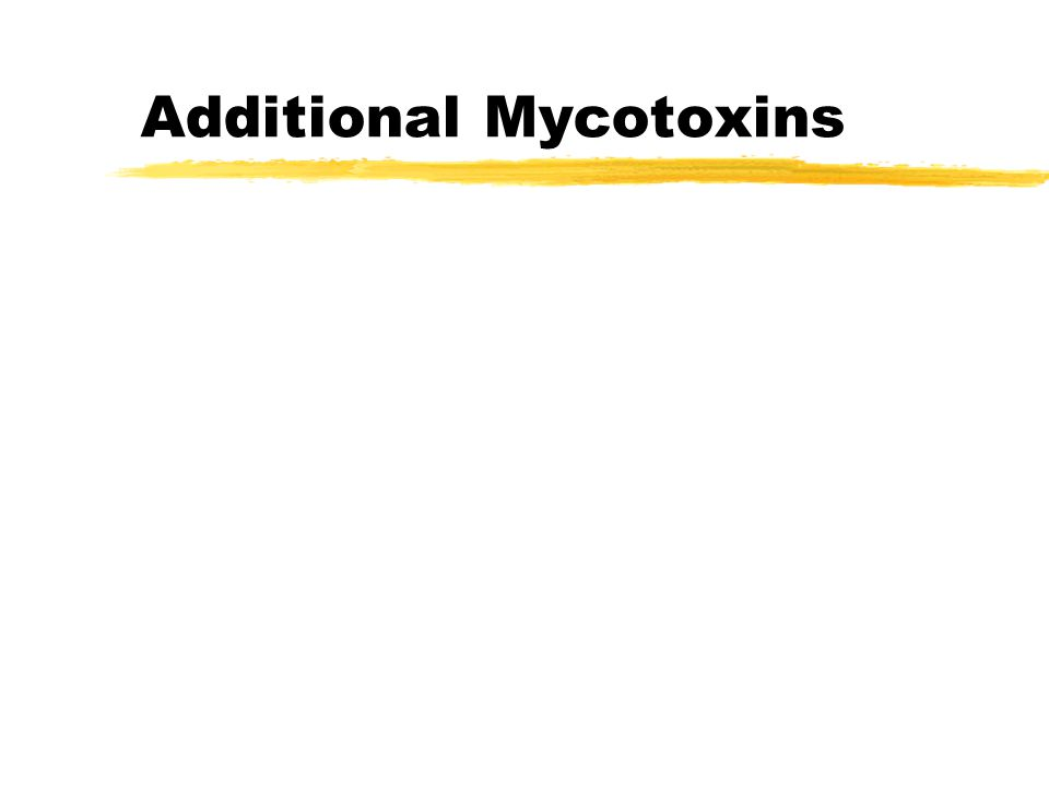 Preventing Mycotoxins zUse clean procedures.