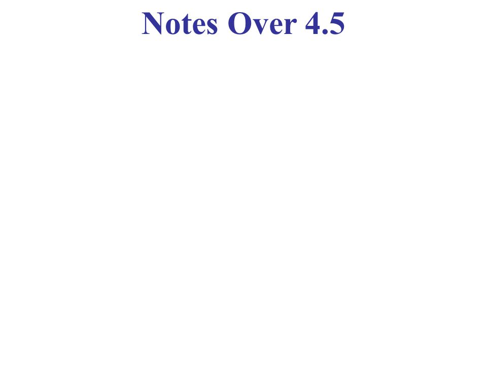 Notes Over 4.5