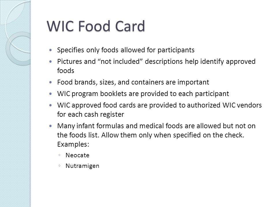 WIC Program Booklet Cashiers verify that signature on the Program Booklet matches signature on check