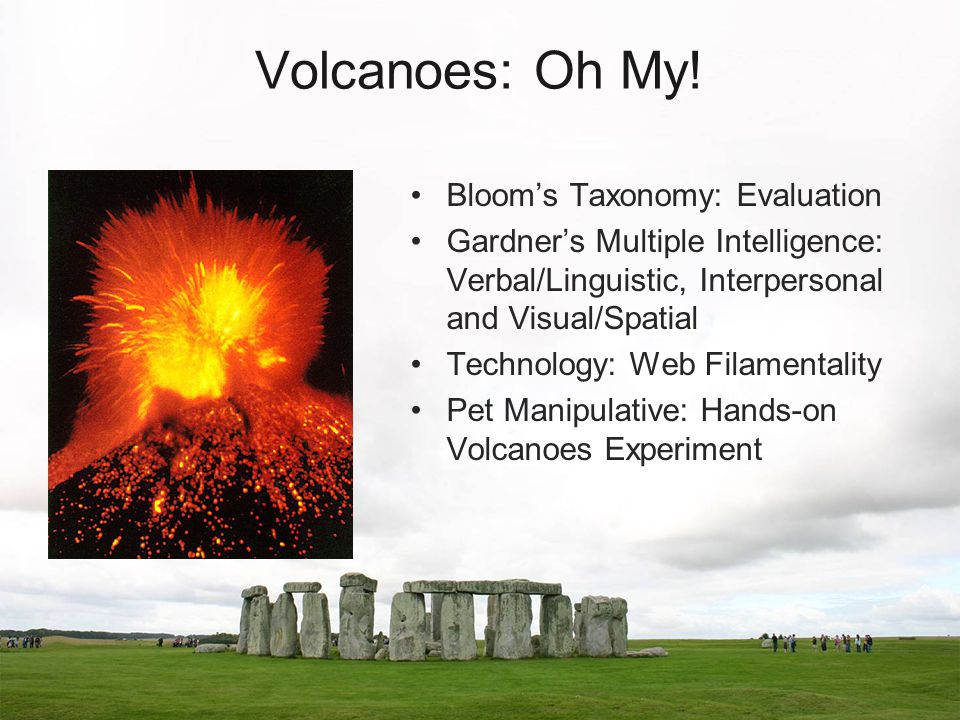 Volcanoes: Oh My.