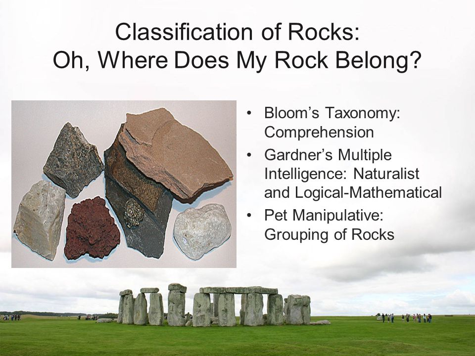 Classification of Rocks: Oh, Where Does My Rock Belong.
