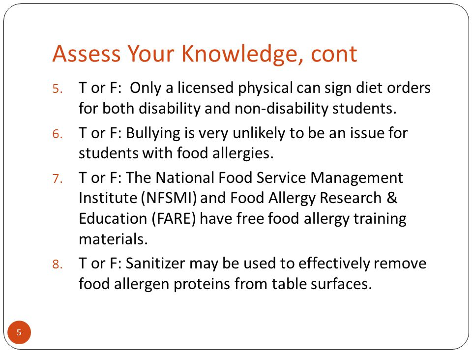 Assess Your Knowledge, cont 5.
