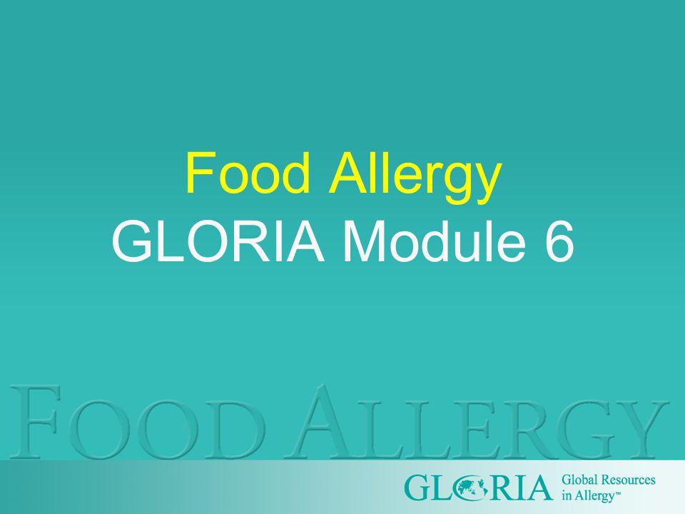 Food Allergy GLORIA Module 6