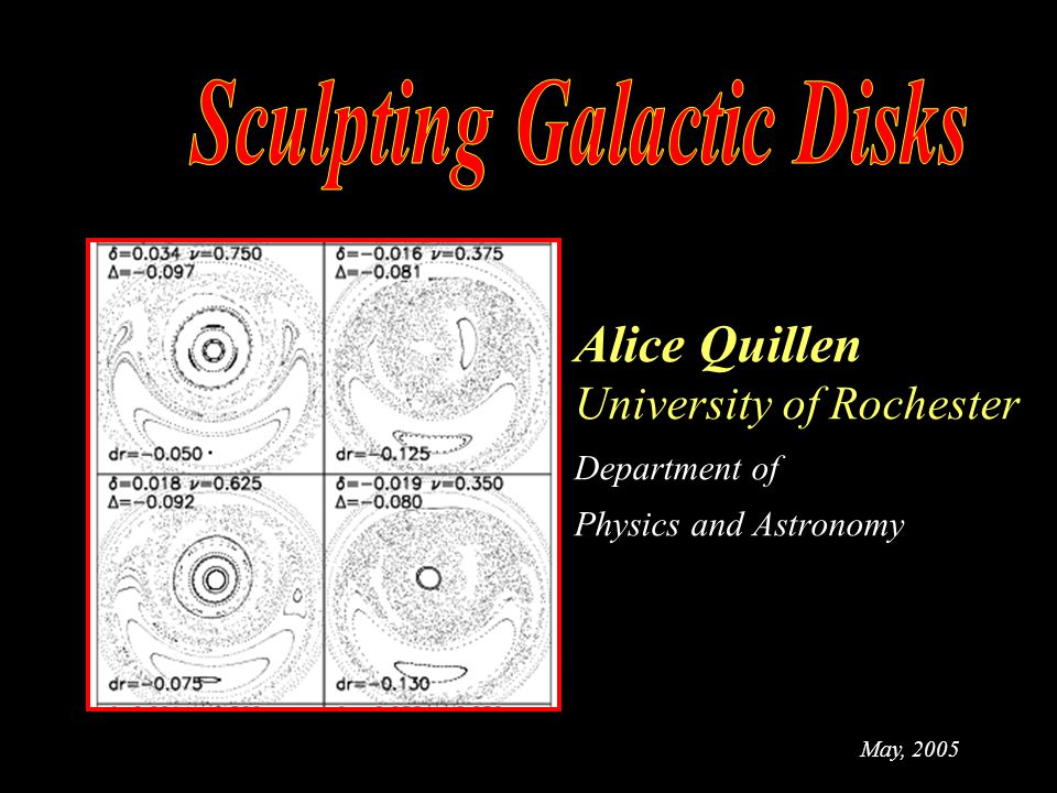 Alice Quillen University of Rochester Department of Physics and Astronomy May, 2005