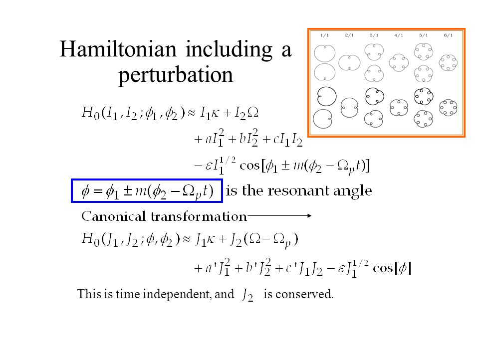 Hamiltonian including a perturbation This is time independent, and is conserved.