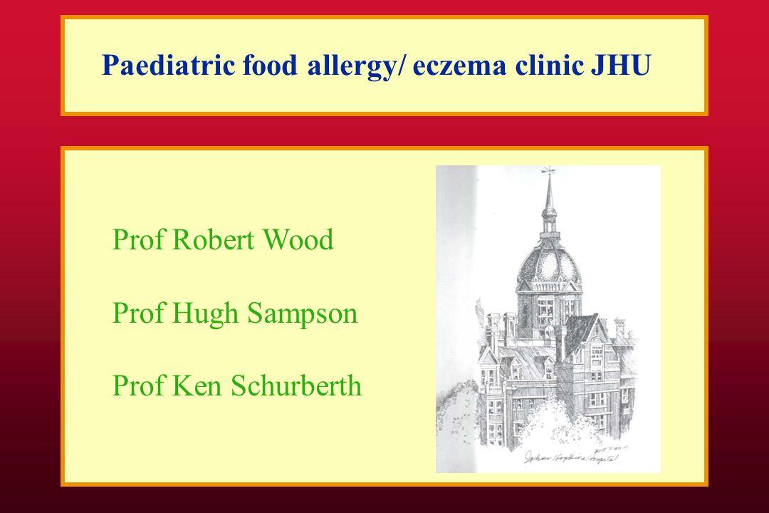 Paediatric food allergy/ eczema clinic JHU Prof Robert Wood Prof Hugh Sampson Prof Ken Schurberth