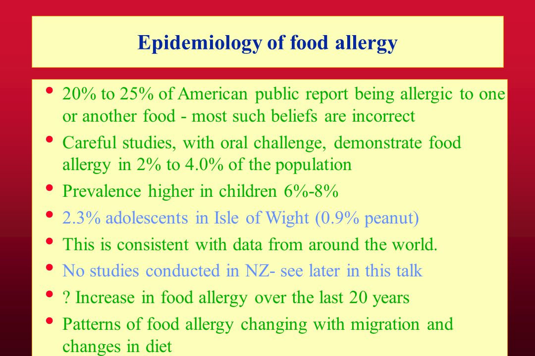 Lack of food allergy Research in New Zealand Ad hoc approach in schools Issues with preschools