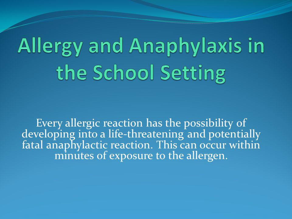 Question 5 What is the key to preventing an allergic reaction?