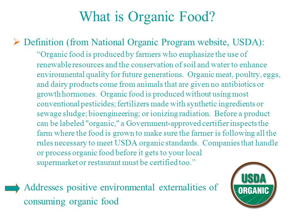 What is Organic Food.