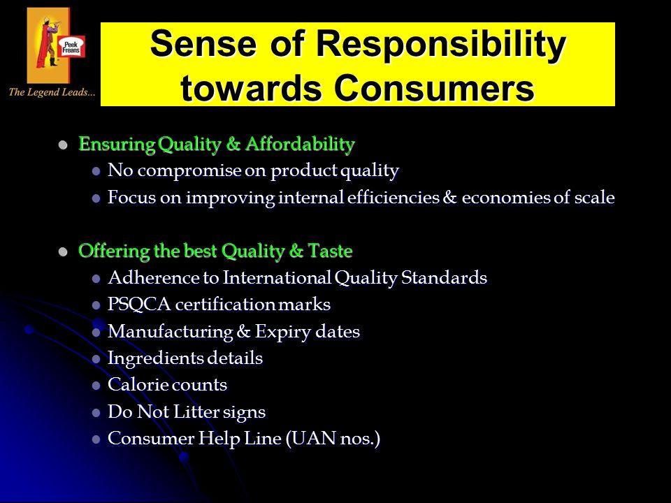 Ensuring Quality & Affordability Ensuring Quality & Affordability No compromise on product quality No compromise on product quality Focus on improving