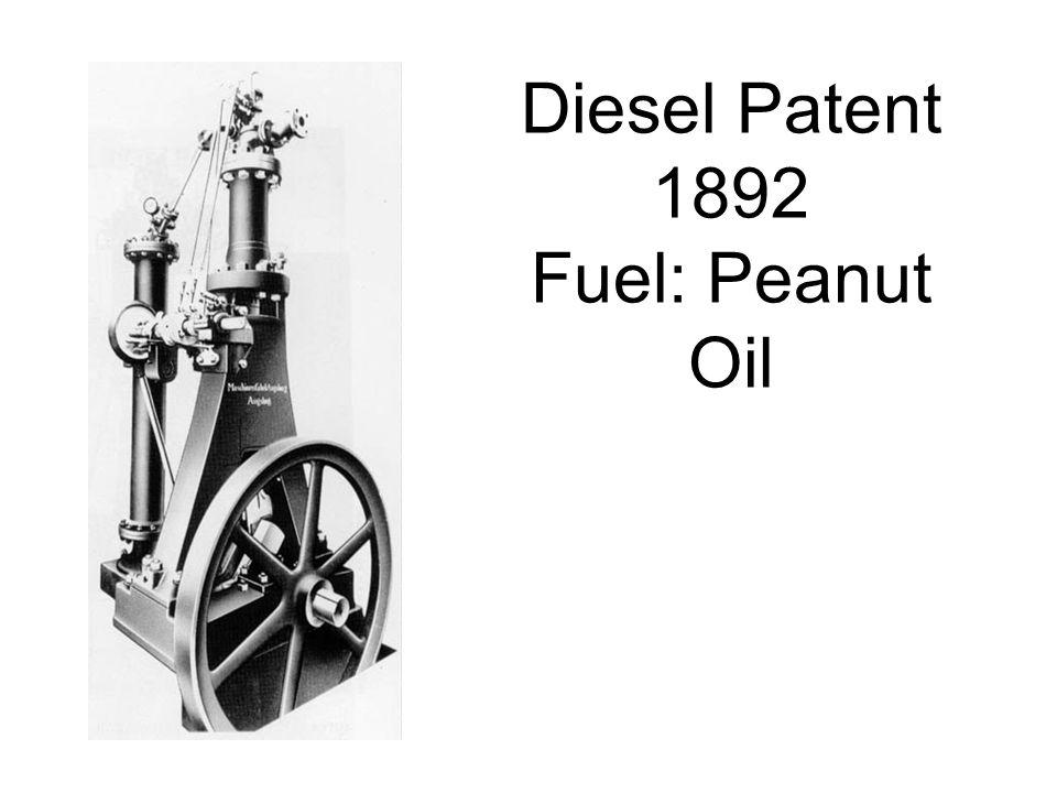 Diesel Patent 1892 Fuel: Peanut Oil