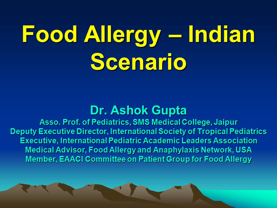 Allergy distribution Evenly distributed More in urban and semi urban areas as compared to rural areas Changing food pattern moving away from Traditional Dal, Rice, Vegetables to Fast Food, Ice cream, Chocolate additionally increased Houses have Carpets & Pet