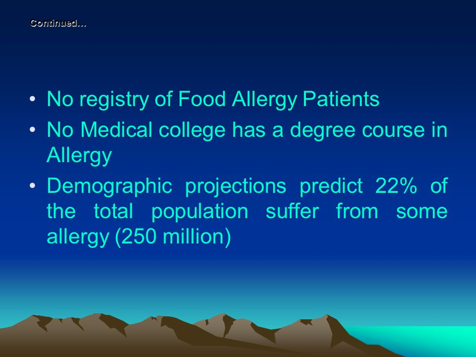 Allergens from a single site No.
