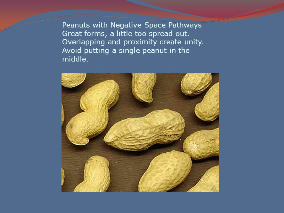 Peanuts with Negative Space Pathways Great forms, a little too spread out.