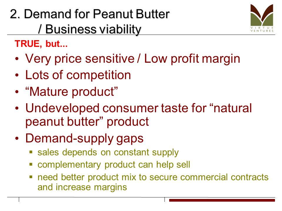 2. Demand for Peanut Butter / Business viability TRUE, but...
