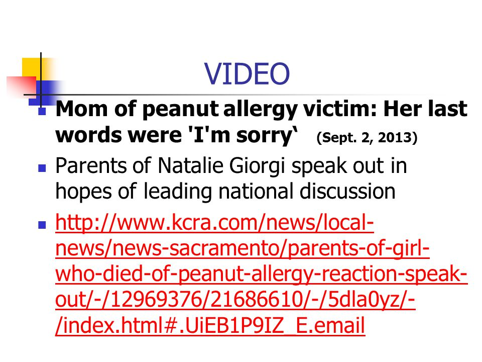 VIDEO Mom of peanut allergy victim: Her last words were I m sorry' (Sept.