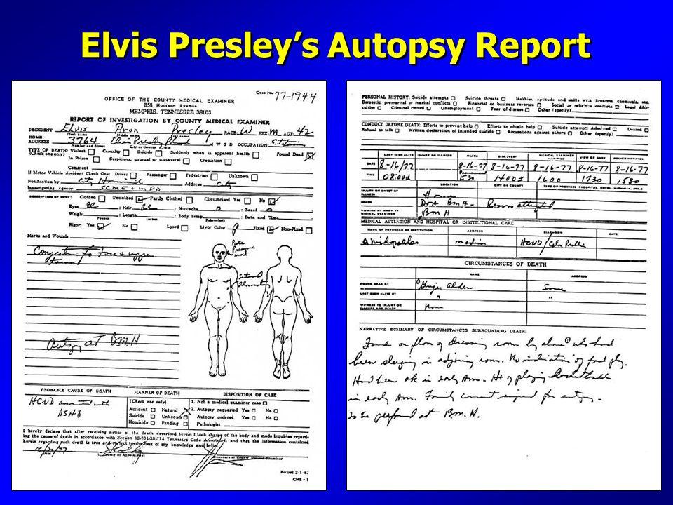 Elvis Presley's Autopsy Report
