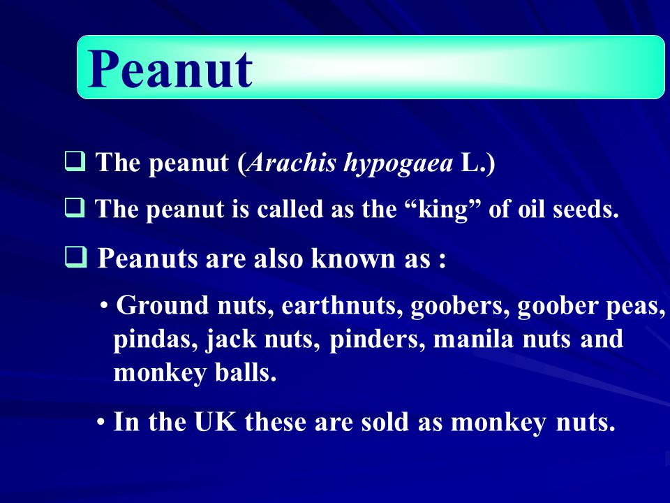  Peanuts are a good source of tocopherols, phytosterol and phospholipid  The tocopherol content of peanuts varies with variety and production location  Peanut oil mainly contains  -tocopherol (50–373 ppm) and γ-tocopherols (90–390 ppm) Tocopherols in peanut (Firestone, 1999)