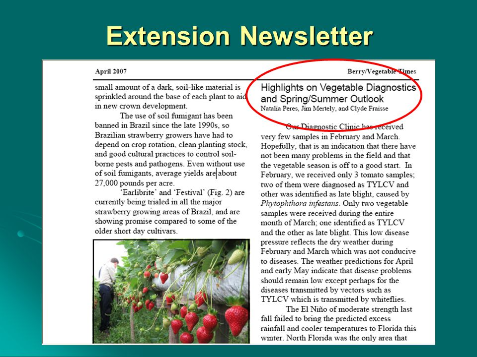Extension Newsletter