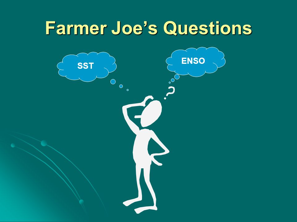 Farmer Joe's Questions ENSO SST
