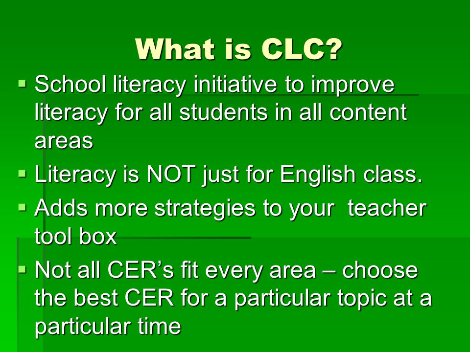 What is a CER.