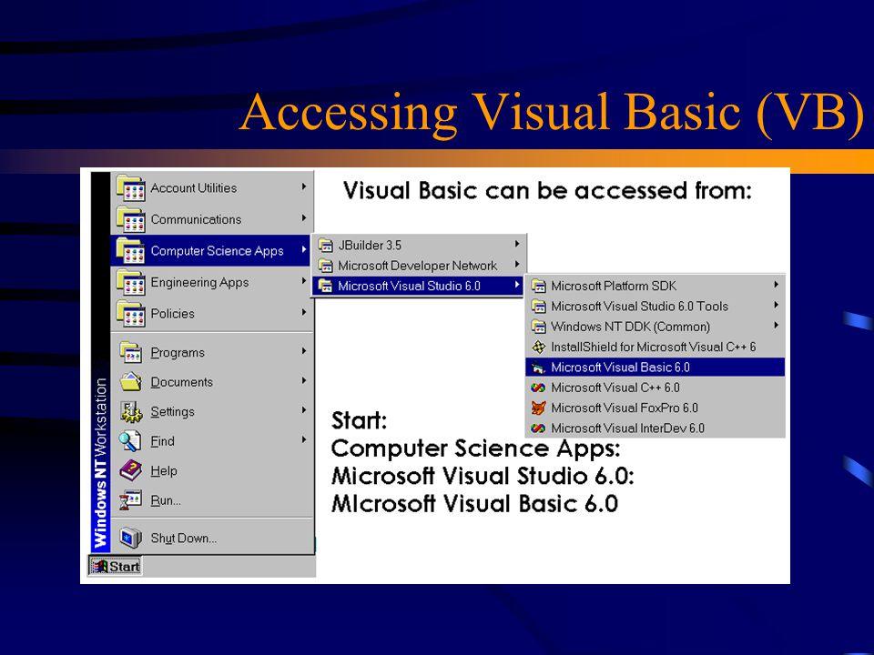 Accessing Visual Basic (VB)