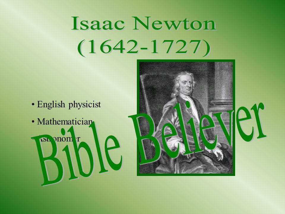English physicist Mathematician Astronomer
