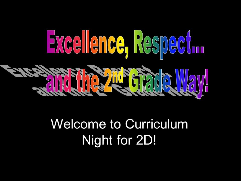 Welcome to Curriculum Night for 2D!