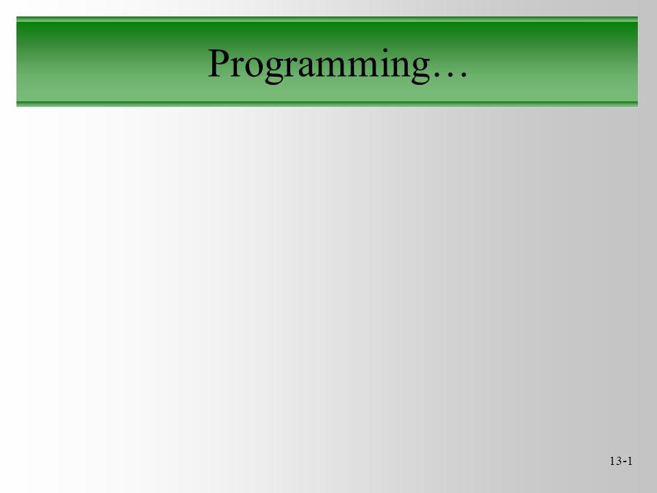 13-1 Programming…