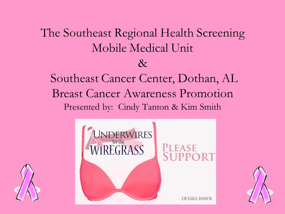 The Southeast Regional Health Screening Mobile Medical Unit & Southeast Cancer Center, Dothan, AL Breast Cancer Awareness Promotion Presented by: Cindy Tanton & Kim Smith