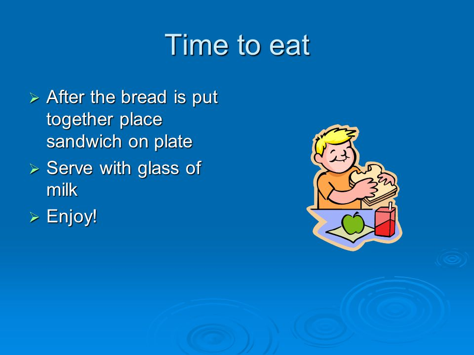 Preparation  Place bread on plate  Take spoonful of peanut butter  Spread it on bread  Do the same with Jelly