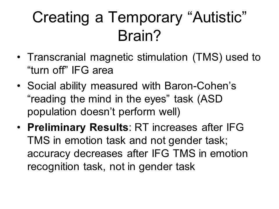 Creating a Temporary Autistic Brain.