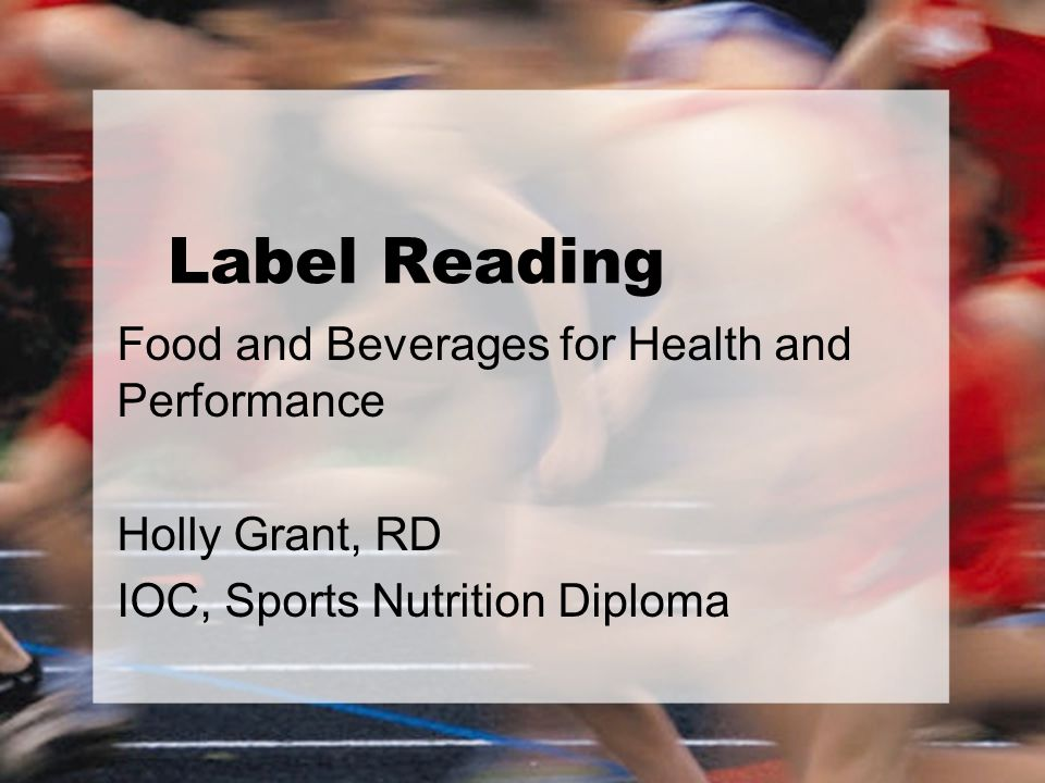 Overview Fueling for Sport Review Nutrition Label Serving Size Carbohydrates Sodium Fat Activity