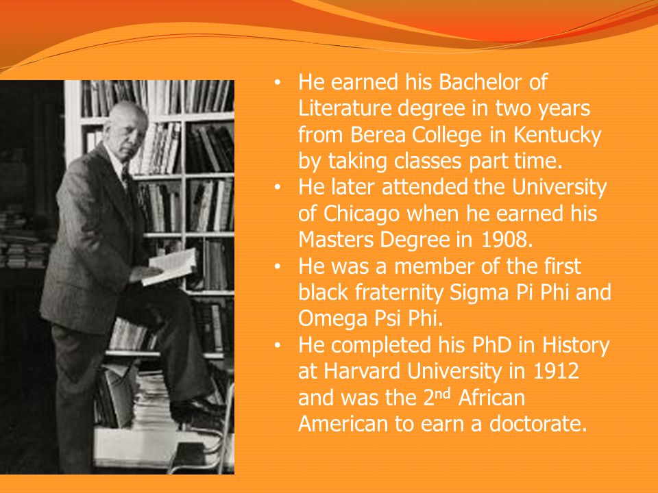 He earned his Bachelor of Literature degree in two years from Berea College in Kentucky by taking classes part time.