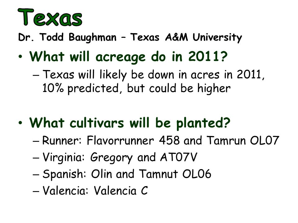 What will acreage do in 2011.